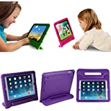 HDE Kids Light Weight Shock Proof Handle Case for iPad Mini / Mini 2 / Mini 3 (Purple)