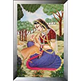 "Dolls Of India ""Ragini"" Reprint On Paper - Unframed (71.12 X 50.80 Centimeters)"