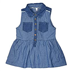 CoffeeBean Kids Girls Denim Dress (5-6 Years)
