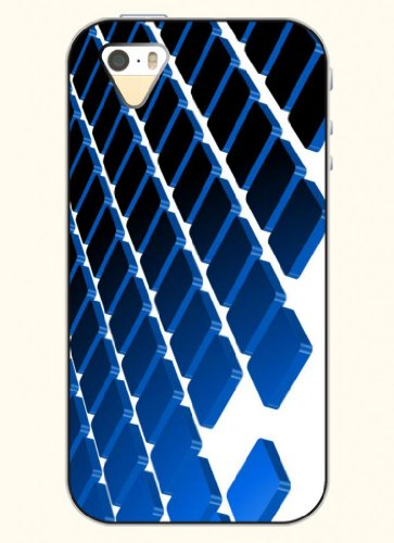Oofit Phone Case Design With Regular Bule Grid For Apple Iphone 5 5S 5G