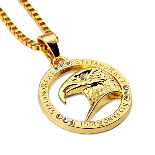 nyuk-para-hombre-fashion-eagle-18-k-original-redondo-hip-hop-collar