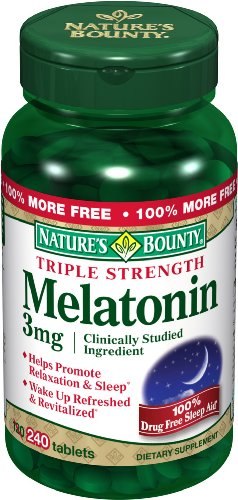 Nature's Bounty Melatonin, 3 mg, 240 Tablets
