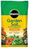 Miracle-Gro Garden Soil for Flowers and Vegetables, 1-Cubic...