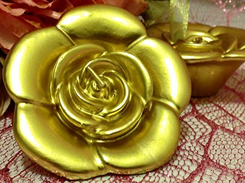 6 Gold Rose Floating Candles Wedding Sweet 16 Party Supply