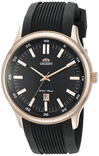 Orient Men's FUNC7002B Judicial Domed Crystal Glass Watch