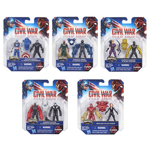 Captain America Civil War 2 1/2-Inch Action Figures Wave 1 Set of 5