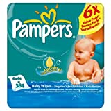 Pampers Baby Fresh Baby Wipes 6 x 6 Pack x 64 per pack