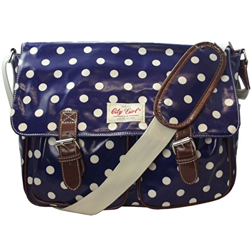 City Girl Polka Dot, Flower (Floral) Satchel/