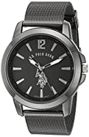 U.S. Polo Assn. Classic Men's Quartz Metal and Alloy Automatic Watch, Color:Black (Model: USC80384)