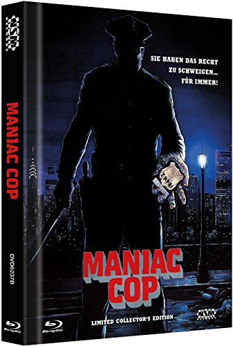 Maniac Cop - uncut [Blu-Ray+2 DVD] auf 666 limitiertes Mediabook Cover B [Limited Edition]