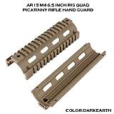 取付簡単 プロモデル クワッドレイルシステム ピカティニーレイル  RIS ハンドガード AR-15/M4等に取付可能(次世代対応)  DE