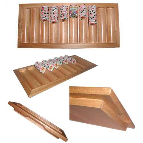 NEW Oak Black Jack Table Tray - Holds 500 Chips (Casino Supplies)