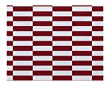 E By Design Stair Stepping Stripes Print Placement, 18 by 14 , Brick