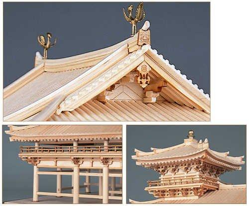 木制建筑 模型 1 75 平等院凤凰堂 p 6142 摩