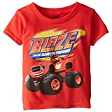 Blaze and the Monster Machines Toddler Boys' Short Sleeve T-Shirt Shirt, Red, 3T