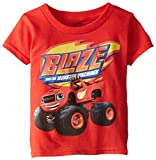 Nickelodeon Little Boys Blaze and The Monsters Toddler Boys Tee, Red, 3T