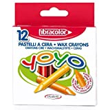 Fibracolor Yoyo Wax Coloured Crayons - Pack Of 12