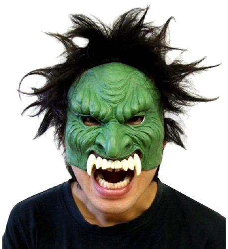 Devil half mask (green)