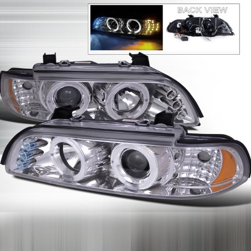 Bmw E39 5-Series 528I 530I 540I Dual Halo Led Chrome Projector Headlights