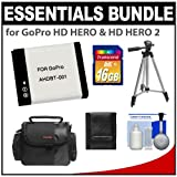 Essentials Bundle for GoPro HD HERO & HD HERO 2 with AHDBT-001 Battery + 16GB Card + Case + Tripod + Accessory Kit
