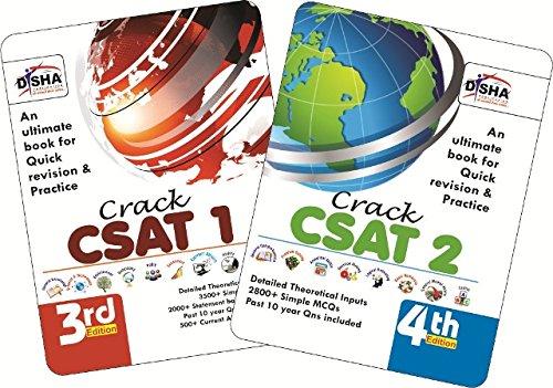 Crack Civil Services General Studies IAS Prelims (CSAT) - Paper 1 & 2 - set of 2 books