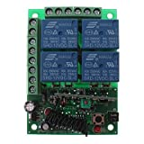 MTDZ008 RF 4-Channel Wireless Remote Controller Switch Module (Green, Black)