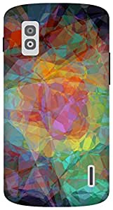 The Racoon Lean abstractism dark hard plastic printed back case for LG Nexus 4