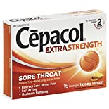 Cepacol Sore Throat, Extra Strength, Lozenges, Honey Lemon, 16 lozenges