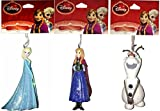 Disney Frozen 2014 Christmas Heirloom Ornament Set of 3: ELSA, ANNA, & OLAF!