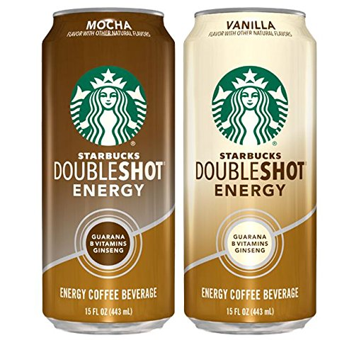 Starbucks Doubleshot Energy Coffee Can Variety Pack, 15 Ounce (pack of 12) (Starbucks Coffee Can compare prices)