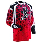 Thor Phase Vented Amazon Motocross Jersey Red Medium M 2910-2317