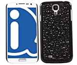 ITALKonline FunkGem BLACK DOTS Diamonte Crystals Super Hydro Gel Protective Armour/Case/Skin/Cover/Shell for Samsung i9500 Galaxy S4 IV