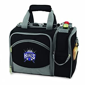 NBA Sacramento Kings Malibu Insulated Shoulder Pack with Deluxe Picnic Service for... by Picnic Time