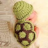 Coromose® Cute Soft Newborn Baby 0-9 Month Knit Crochet Minnie Photo Prop Outfits Tortoise