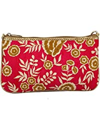 Latest New Fashionable Trendy ORANGE COLOUR CLUTCH WITH Multi-colour Embroidery CLUTCHES,PURSE AND PURSES For...