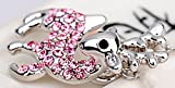 Belletas Lucky Christmas Symbols Deer Shape Pink Diamonds Accented Pendant Necklace
