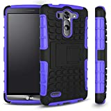 LG G3 Vigor Case, Sophia Shop 2 in 1 Heavy Duty Dual Layer Case with Built-in Kickstand, TANK Slim Fit Hybrid PC Hard Armor Back with Black Soft TPU Protective Cover Case for LG G3 Vigor 5 Inch Screen (Purple)