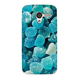 Stylish Bluish Gem Print Back Case Cover for Moto X