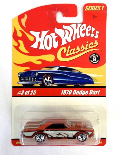 Hot Wheels Classics Series 1 1970 Dodge Dart Dark Orange #3 Of 25
