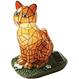 Mosaic Cat Solar Garden Light