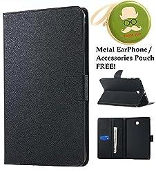Moca(Tm) Mercury Folding Flip Folio Pu Leather With 4 Card Slot Stand Case Cover For Samsung Galaxy Tab A 8.0Inch (8 Lte) Sm T355 Sm-T350