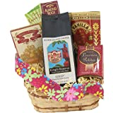 Candy and Kona Smooth Hawaiian Coffee Gift Basket, Whole Bean Coffee, for Christmas and All Occasions