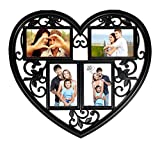 Love Forever 4 in 1 Black Photo Frame (4x6 inch 4 photos)