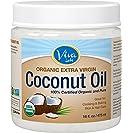 Viva Labs The Finest Organic Extra Virgin Coconut Oil, 16...