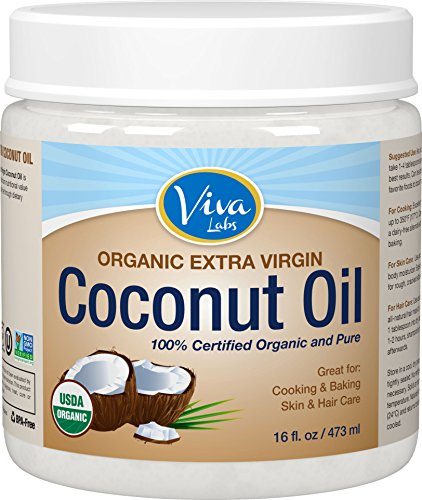 Viva Labs The Finest Organic Extra Virgin Coconut Oil, 16 Ounce