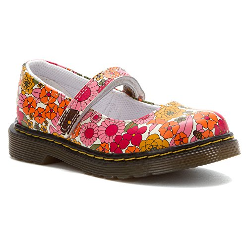 Dr. Martens Maccy Mary Jane (Toddler/Little Kid),Pink Vintage Garden,10 Uk (11 M Us Toddler)