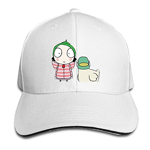 sarah-duck-unisex-100-cotton-adjustable-trucker-hat-white-one-size