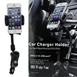 Car Chargers Best Deals - Dual USB Car Charger Cradle Mount Holder for Iphone 5 4s/4 Samsung Galaxy S4 S3 Note 2