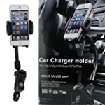 Dual USB Car Charger Cradle Mount Hol...