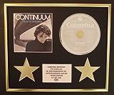JOHN MAYER/CD DISPLAY/LIMITED EDITION/COA/CONTINUUM